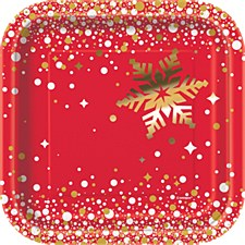 Gold Sparkle Christmas 7in Plate.