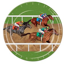 """9"""" Horse Racing Luncheon Plates, 8ct"""