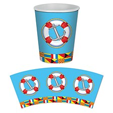 9oz. Nautical Beverage Cups, 8ct