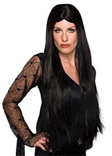 "28"" LONG BLACK HAIR WIG"