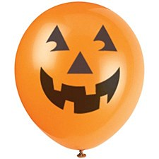 Pumkin Latex Balloons 6''
