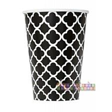 Black Quatrefoil Cups