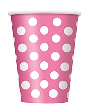 Hot Pink Dots Cups