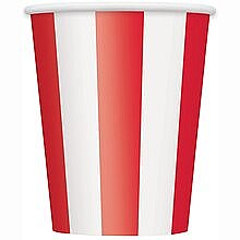 Ruby Red Stripe Cups