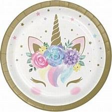 "Baby Unicorn 7""Plate"