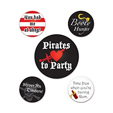 Pirate Party Buttons