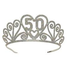 Glittered Metal  50  Tiara