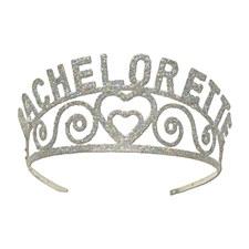 Glittered Metal Bachelorette Tiara