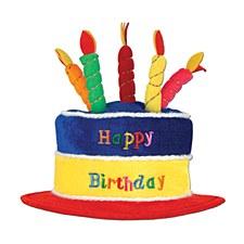 Plush Birthday Cake Hat
