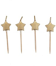 Gold Star Birthday Candles