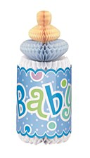 Blue Dots Baby Shower Honeycomb