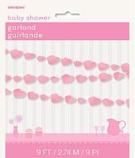 Pink Baby Bootie Paper Garland