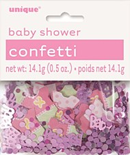 Pink Dots Baby Shower Confetti .5 oz.