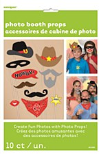 Western Photo Booth Props 10ct