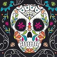 Skull Day of Dead Napkins