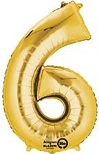 """34"""" #6 Gold Mylar"""