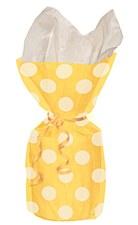 20 Yellow Polka Dots Cello Bags