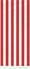 20 Red Stripes Cello Bags