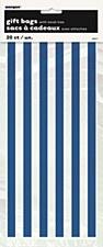 20 Royal Blue Stripe Cello Bags