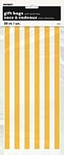 20 Yellow Stripe Cello Bags