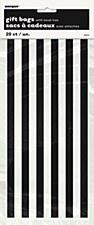 20 Black Stripe Cello Bags