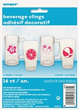 Summer Fun Beverage Glass Clings 16ct