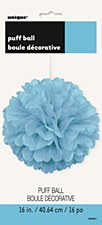 16in Powder Blue Puff Ball