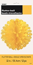 """12"""" Flutter Ball - Yellow"""
