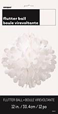 """Flutter Ball 12"""" - White"""