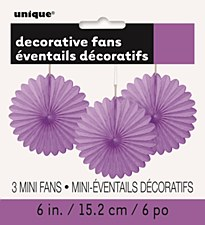 3 Mini Purple Fans