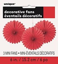 3 Mini Red Fans