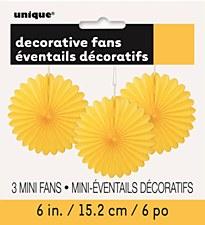 3 Mini Yellow Fans