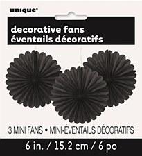 3 Mini Black Fans