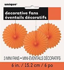 3 Mini Orange Fans