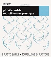 Powder Blue Plastic Swirls