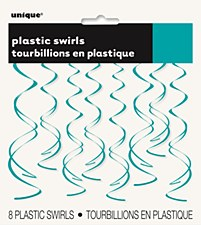Caribbean Teal Plastic Swirls