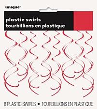 Red Plastic Swirls