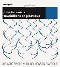 Royal Blue Plastic Swirls