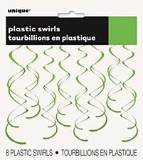 Lime Green Plastic Swirls