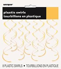 Yellow Plastic Swirls