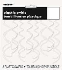 White Plastic Swirls