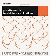 Orange Plastic Swirls