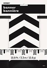 Black Paper Pennant Banner