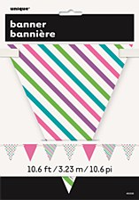 Bright Dots & Stripes Flag Banner