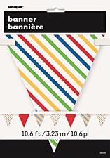 Bold Dots & Stripes Flag Banner