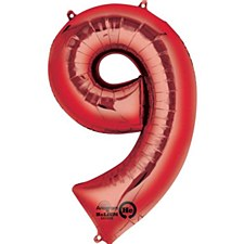 """34"""" Number 9 Red"""