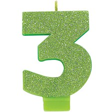 #3 Green glitter Candle