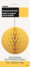 """8""""Sunflower Yellow Honeycomb Ball"""