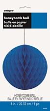 "8"" Royal Blue Honeycomb Ball"