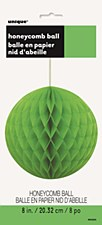 "8"" Lime Green Honeycomb Ball"